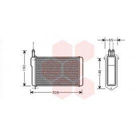 Radiateur de chauffage pour Lada Samara