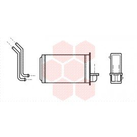 Radiateur de chauffage pour Peugeot 205