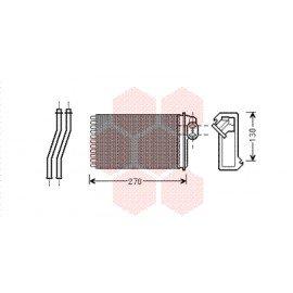 Radiateur de chauffage pour Peugeot 205 type Behr