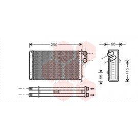 Radiateur de chauffage pour Peugeot 405 type Ipra