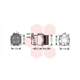 Compresseur airco pour Citroen C8 version 3.0 24V boite automatique, avec injecteur