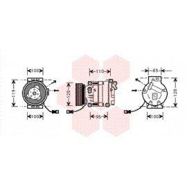 Compresseur airco pour Fiat Barchetta depuis aout 2000 version 1.8