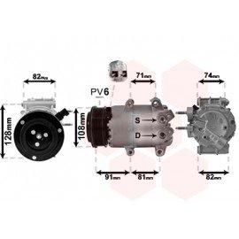 Compresseur airco pour Ford B-Max depuis oct 2012 version 1.4MT / 1.6 / 1.5TDCi / 1.6 TDCi