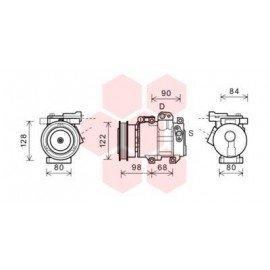 Compresseur airco pour Kia Carens de juin 2009 à 2012 version 1.6 CRDi boite manuelle