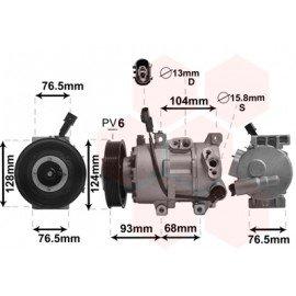 Compresseur airco pour Kia Rio de juil 2011 à 2015 version 1.4i