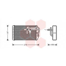 Radiateur de chauffage pour Rover 600