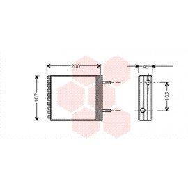 Radiateur de chauffage pour Volvo 340