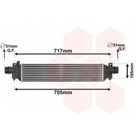 Intercooler pour Chevrolet Trax depuis 2013 version 1.4i 16V Ecotec / LPG