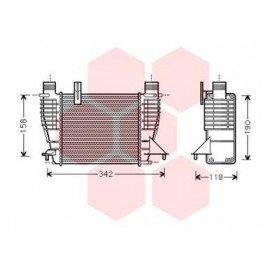Intercooler pour Nissan Cube depuis déc 2009 version 1.5 DCi