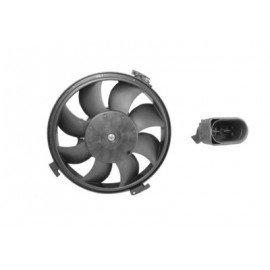 Hélice de ventilateur avec moteur pour Audi A6 de mai 1997 à mai 2004 version 300W (fiche rectangulaire)