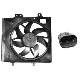 Hélice de ventilateur avec moteur pour Citroen C2 version 90W 2pins 340 mm