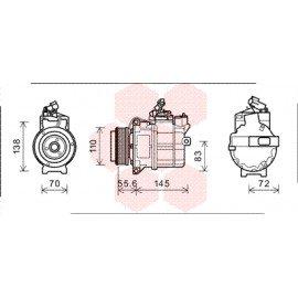 Compresseur airco pour Land-Rover Defender depuis oct 2006 version 3.6 TD boite automatique