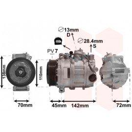 Compresseur airco pour Mercedes CL C216 de juil 2007 à déc 2013 version CL 63 AMG 6.2i