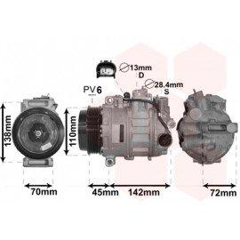 Compresseur airco pour Mercedes GL X164 450 4.7i de fév 2006 à 2012