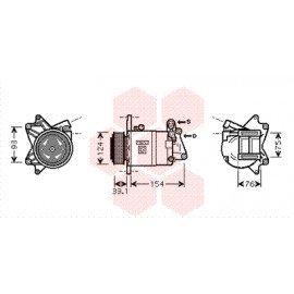 Compresseur airco pour Nissan Murano de aout 2003 à 2008 version 3.5i