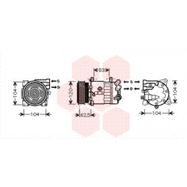 Compresseur airco pour Peugeot 607 depuis 2004 version 3.0 boite automatique (verifier OE)