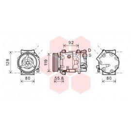 Compresseur airco pour Peugeot 3008 version 2.0 HDi