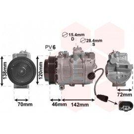 Compresseur airco pour Porsche 911 de 2009 à 2012 sauf version Turbo et GT2