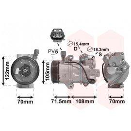 Compresseur airco pour Smart Forfour verison 1.1 / 1.3 / 1.5