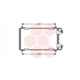 Condenseur sans bouteille pour Citroen BX version 1.9 16V (GTi)
