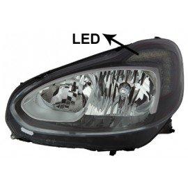 Phare gauche H7 + H1 + LED pour Opel Adam depuis oct 2012 marque Visteon