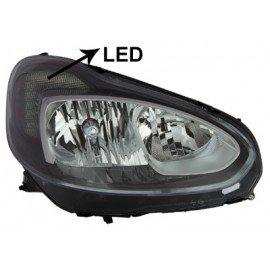 Phare droit H7 + H1 + LED pour Opel Adam depuis oct 2012 marque Visteon