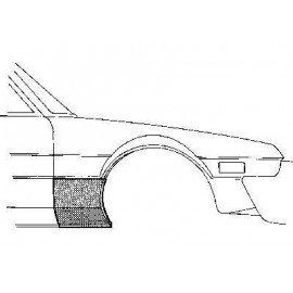 Partie basse d'aile avant droite pour FIat X1/9 de 1973 à 1986