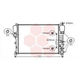 Radiateur moteur pour Mercedes CL 600 / 65AMG / 63AMG