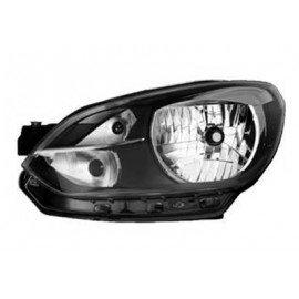 Phare gauche H4 couleur noir pour Volkswagen UP! marque Hella
