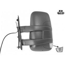 Rétroviseur manuel gauche complet, Bras Court, avec répétiteur pour Iveco Turbo Daily de 2010 à 2014