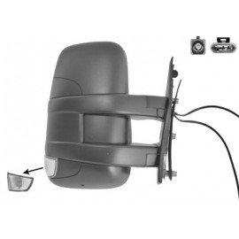 Rétroviseur manuel droit complet, Bras Court, avec répétiteur pour Iveco Turbo Daily de 2010 à 2014