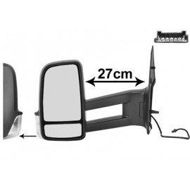 Rétroviseur électrique chauffant gauche, bras long, pour Volkswagen Crafter depuis 2009