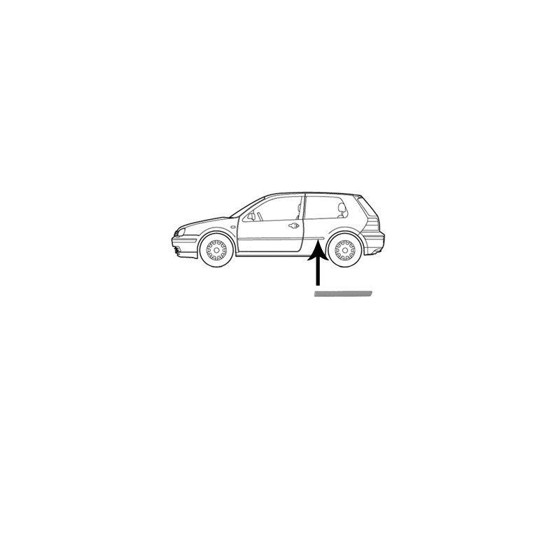 moulure d 39 aile arri re gauche pour volkswagen golf 3 de nov 1997 2003 version 2 3 portes. Black Bedroom Furniture Sets. Home Design Ideas