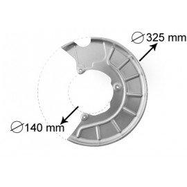 Protection disque de frein avant gauche pour Skoda Octavia de 2004 à 2008