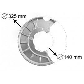 Protection disque de frein avant droit pour Skoda Octavia de 2004 à 2008