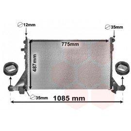 Radiateur diesel pour Opel Movano climatisée d'après 2010 version 2.3CDTi