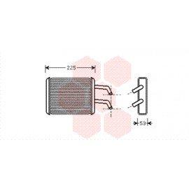 Radiateur chauffage pour Kia Pregio avec climatisation arrière de oct 1997 à 2004
