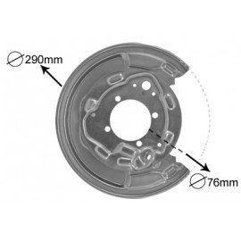 Protection de disque de frein arrière droit pour Toyota Avensis de 2003 à 2008