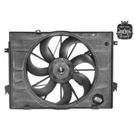 Helice de ventilateur avec cadre et moteur pour Kia Sportage de oct 2004 à aout 2010 version 2.0 / 2.0 CRDi