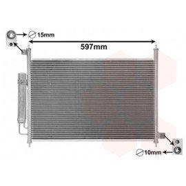 Condenseur de climatisation avec bouteille déshydratante pour Honda FRV version 2.2 CDTi