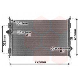 Radiateur moteur pour Citroen C4 Picasso essence d'après 2013 version 1.2 THP / 1.6 THP