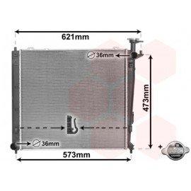 Radiateur moteur Diesel pour Kia Sorento de sept 2012 à 2015 version 2.0 CRDi / 2.2 CRDi boite manuelle