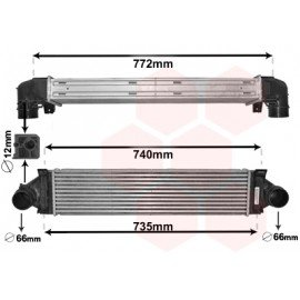Intercooler pour Land-Rover Freelander 2 d'après oct 2011 version 2.0i 16V