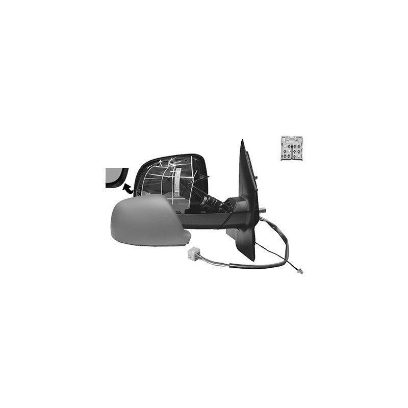r troviseur lectrique droit chauffant rabattable lectriquement en primer avec antenne pour. Black Bedroom Furniture Sets. Home Design Ideas