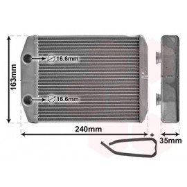 Radiateur chauffage pour Dacia Dokker depuis mars 2012