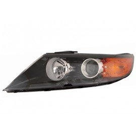 Phare gauche H7+H1 compatible LWR pour Kia Sorento de nov 2009 à sept 2012