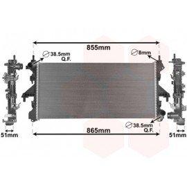 Radiateur moteur diesel pour Citroen Jumper de 2006 à 2014 version 2.0 JTD avec climatisation