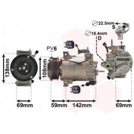 Compresseur de climatisation pour Ford B-max d'après oct 2012 version 1.0 Ecoboost