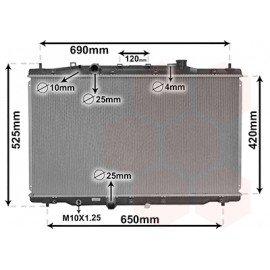 Radiateur moteur disesel pour Honda CRV de 2012 à 2015 version 2.2i DTEC