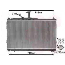 Radiateur diesel 2,5 CRDi boite manuelle (435x777x19) pour Hyundai H1 boite 6 vitesse à partir de Janvier 2008